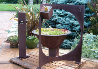 Cor Ten Scope at Olbrich Gardens-Madison, WI