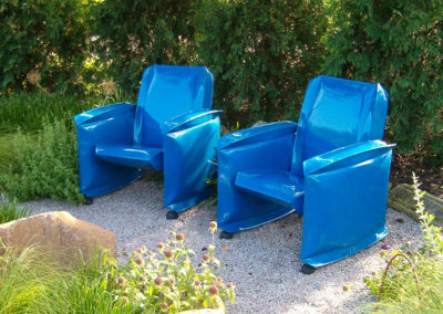 Pair of Inflated Steel Chairs at Olbrich Gardens-Madison, WI