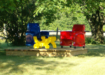 Inflated Steel Chairs and Table-Anderson Farm