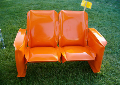 Inflated Steel High Back Loveseat