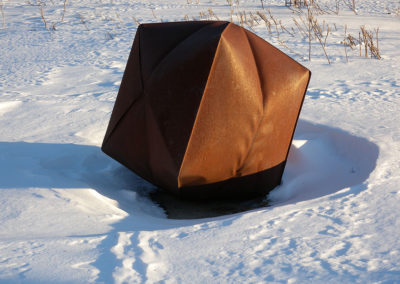 Inflated Steel-Origami Inspired