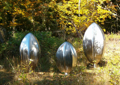 Inflated Steel Sculpture Standing Trio in Sturgeon Bay, WI