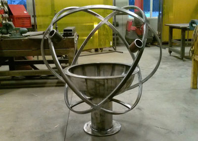 Large Atomic Garden Kaleidoscope before Powder Coat