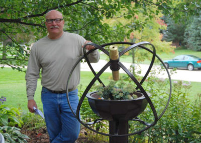 Regular Atomic Garden Kaleidoscope with Metal Sculptor Robert Anderson